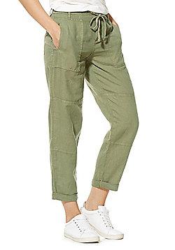 F&F Tencel®-Rich Ankle Grazer Trousers - Khaki
