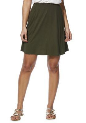 F&F Plain Flippy Skirt Khaki 14