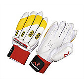 Woodworm Firewall Delta Yellow Batting Gloves - Youths Left Hand