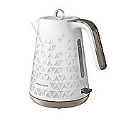 Morphy Richards 108252 Prism Textured Jug Kettle - White