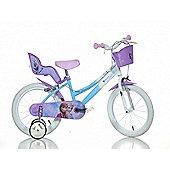 Disney Frozen 16inch Balance Bike Blue - DINO Bikes