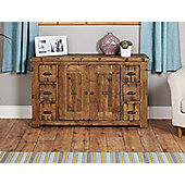 Baumhaus Heyford CRS02B Rough Sawn Oak Six Drawer Sideboard