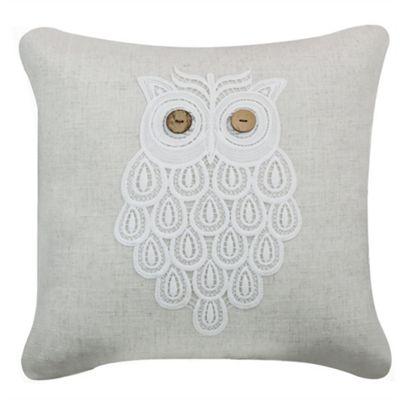 Lace Owl Cushion - Natural