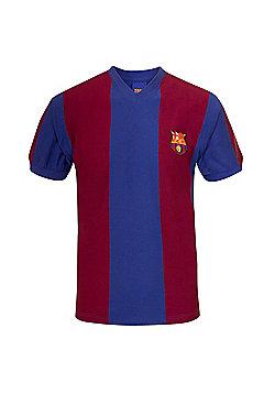FC Barcelona Mens 1974 1979 Retro Shirt - Claret