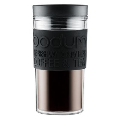 Bodum 0.35L Double Wall Plastic Travel Mug, Black