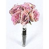 Artificial - Rose Bundle Short Stem - Pink