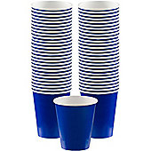 Royal Blue Coffee Cups - 340ml Paper Cups - 40 Pack
