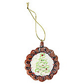 Gingerbread Cookie Christmas Tree Decoration with Tree