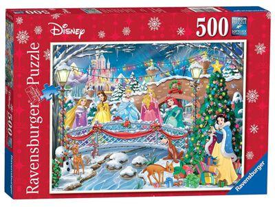 Disney Princess 'Christmas Celebrations' 500 Piece Jigsaw Puzzle Game