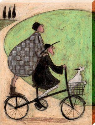 Sam Toft Double Decker Bike Canvas Print