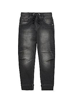 F&F Jean Joggers - Washed black