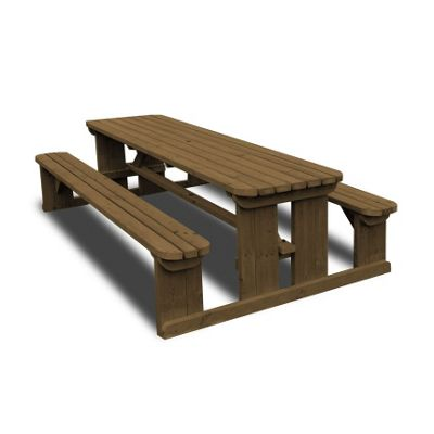 Tinwell rounded picnic bench - 5ft