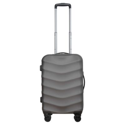 Tesco Malaga Small 8 Wheel Hard Shell Charcoal Suitcase