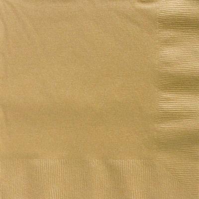 Gold Dinner Napkins - 2ply Paper - 50 Pack