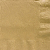 Gold Dinner Napkins - 2ply Paper - 50 Pack