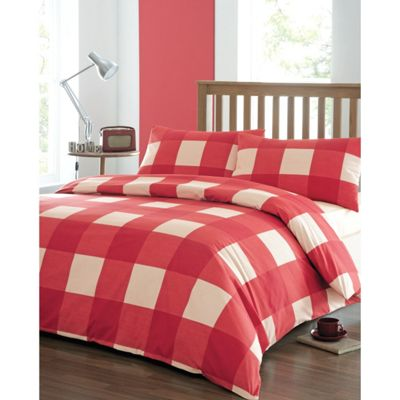 Dreams n Drapes Newquay Double Duvet Cover Set - Red