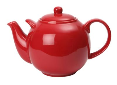 London Pottery 10 Cup Globe Teapot, Red