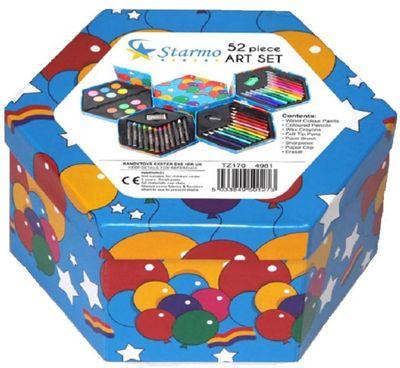 Starmo Childrens 52 Pcs Craft Art Hexagon Set