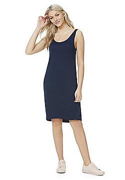 Vila Scoop Neck Jersey Dress - Navy