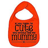 Dirty Fingers If you think I'm Cute you should see my Mummy Bib Orange