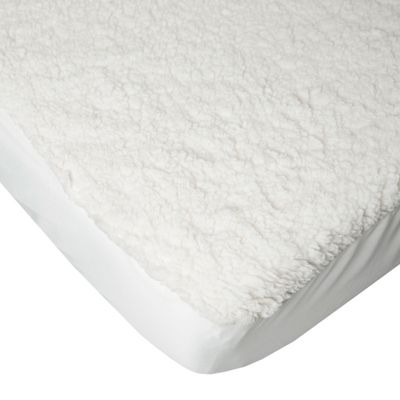 Homescapes Thermal Faux Lamb's Wool Mattress Topper, Double