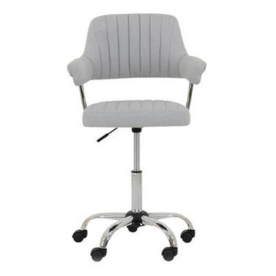 Yale Light Grey Fabric Small Office Chair