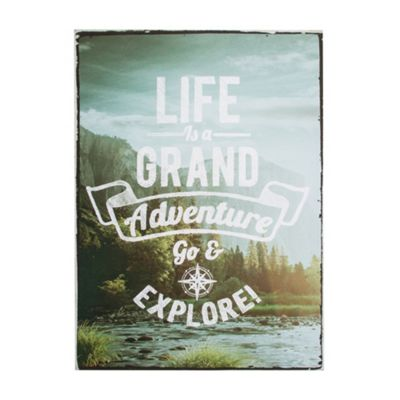 Art for Home Life's An Adventure Printed Canvas