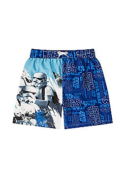 Star Wars Boys Swim Shorts - Blue
