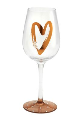 Here's To You Fill Your Heart Wine Glass