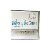 Glitter Words Father of the Groom Thank You Card