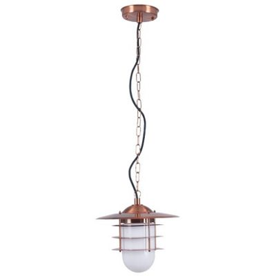 Copper Outdoor Lantern Electrified Ceiling Pendant Light Stainless Steel