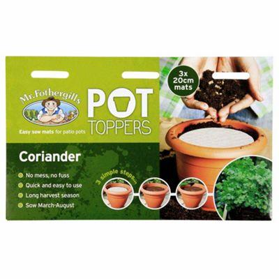 Mr Fothergill's Coriander Herb Garden Plant Pot Topper