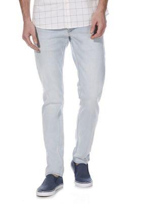 F&F Knitted Stretch Slim Fit Jeans Light Wash 32 Waist 30 Leg
