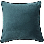 McAlister Teal Matt Velvet Cushion Cover - 43x43cm