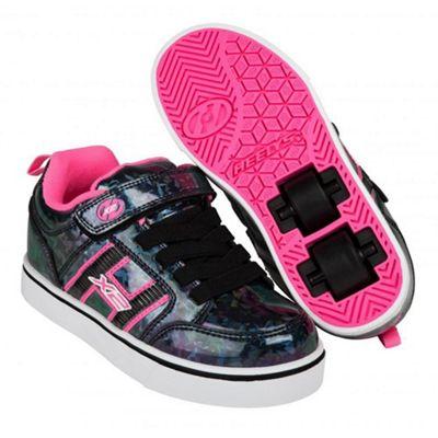 Heelys Bolt Plus Black Hologram/Pink Heely Shoe JNR 11
