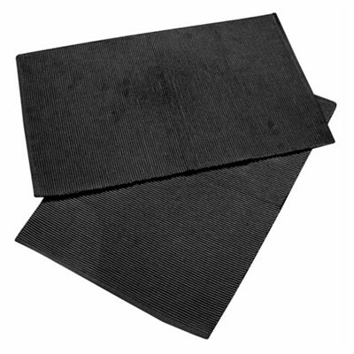 Homescapes Cotton Plain Black Pack of 2 Placemats
