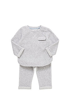 F&F Ribbed Velour Sweatshirt and Joggers Set - Grey