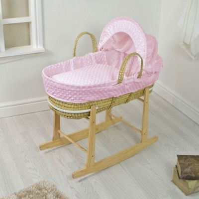 PreciousLittleOne Moses Basket Bedding Set (Dimple Pink)