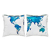 World Design Extra Soft Luxury Velvet Twin Cushion Sets of Two