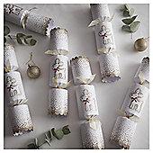 Luxury Gold Glitter Reindeer Christmas Crackers, 6 pack