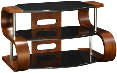 Jual Curve - Curved Walnut and glass TV Stand for up to 37