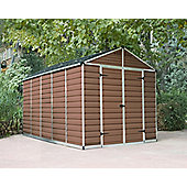 Palram Skylight Amber Plastic Shed, 8x12ft