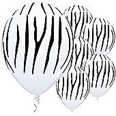 Zebra Stripes 11 inch Latex Balloons - 25 Pack