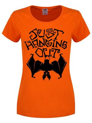 Women's Just Hanging Out T-shirt Orange
