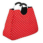 Coolmovers Reusable Red Polka Dot Shopping Bag, 17 Litre