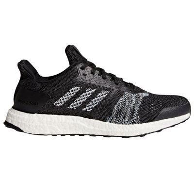adidas Ultra Boost ST Mens Running Trainer Shoe Black/White - UK 9
