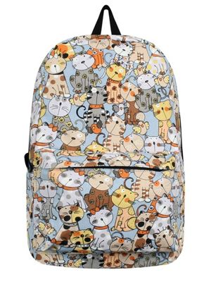 Many Many Cats Canvas Backpack