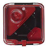Black+Blum Box Appetit Lunch Box in Black and Red BA004