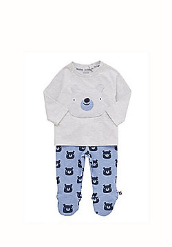 F&F Bear Face Pyjamas - Blue