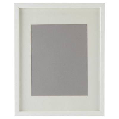 Basic Photo Frame White 28x35.5cm/20x25cm with Mount